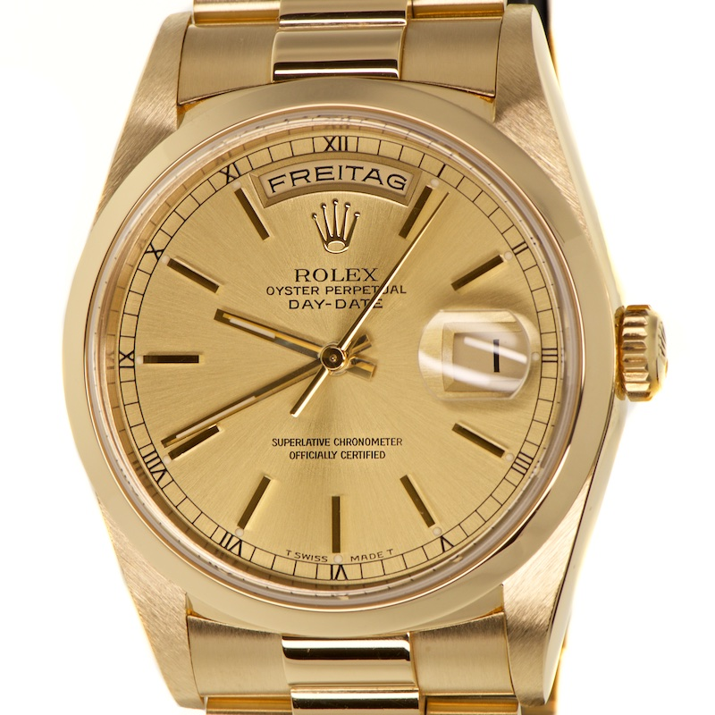 All Watches Rolex Day Date 18k Gold 36mm Ref 18238